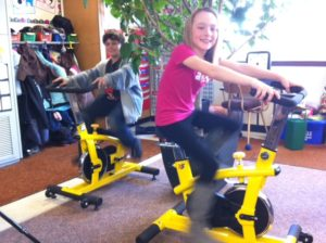 breslau students spin bike